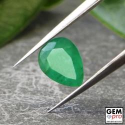 Émeraude Verte 0.41 carat Taille Poire Gemme de Zambie