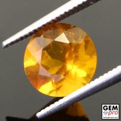 Opale de Feu Orange 2.10 carat Taille Ronde Gemme de Madagascar