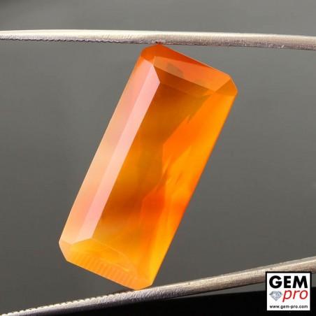 Opale de Feu Orange 13.58 carats Taille Octogonal Gemme de Madagascar