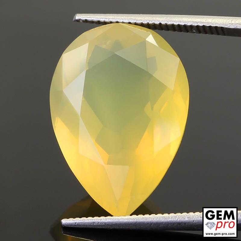 11.13 Carat Yellow Fire Opal AAA Gem from Madagascar