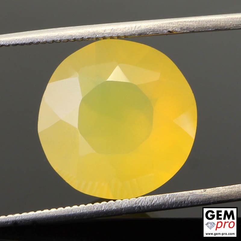 6.02 Carat Yellow Fire Opal Gem from Madagascar