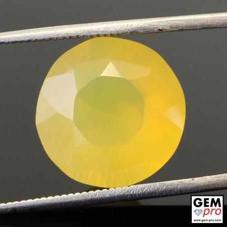 Opale de Feu Jaune 6.02 carat Taille Ronde Gemme de Madagascar