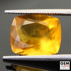 Opale de Feu Jaune AA 4.92 carats Taille Coussin Gemme de Madagascar