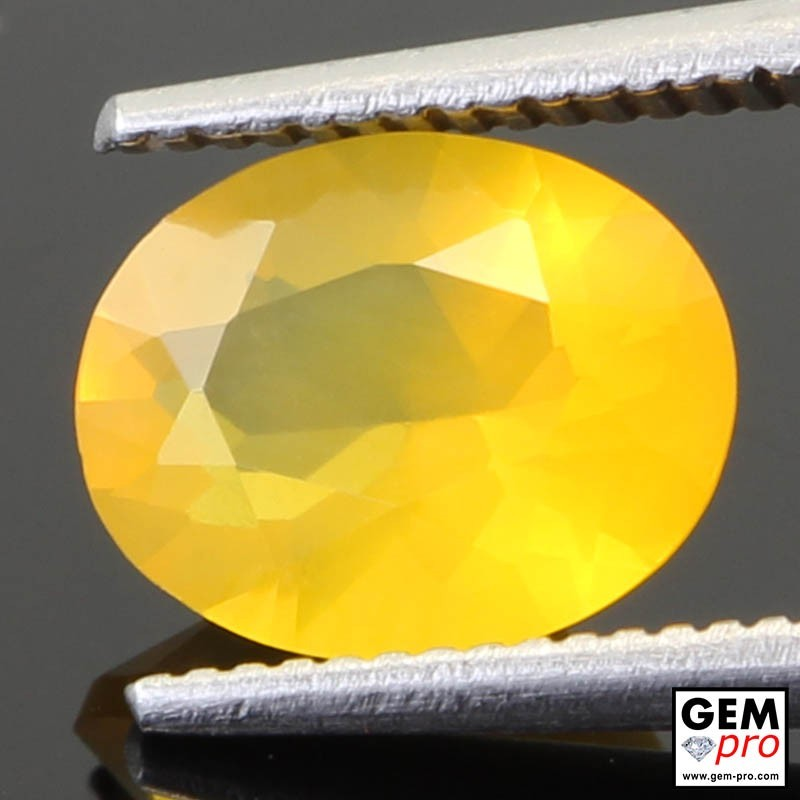 1.29 Carat Yellow Fire Opal AA Gem from Madagascar