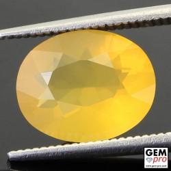2.45 Carat Yellow Fire Opal AA Gem from Madagascar