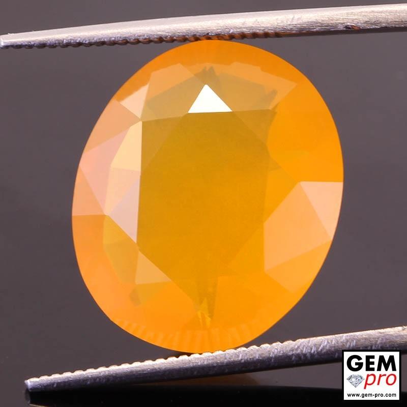 Opale de Feu Orange AAA 2.45 carats Taille Ovale Gemme de Madagascar