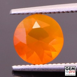 0.90 Carat Orange Fire Opal AAA Gem from Madagascar
