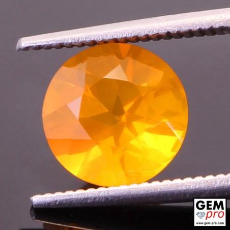 Opale de Feu Orange AAA 1.65 carat Taille Ronde Gemme de Madagascar