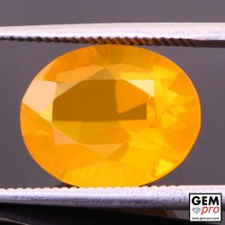 3.82 Carat Orange Fire Opal AAA Gem from Madagascar