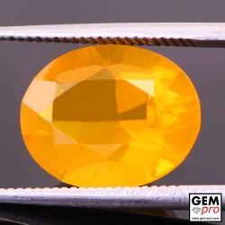 Opale de Feu Orange AAA 3.82 carat Taille Ovale Gemme de Madagascar