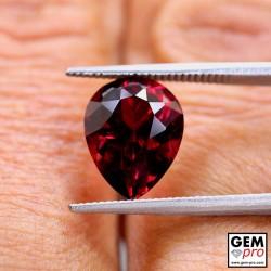 Red Almandine Garnet 5.26 Carat Pear from Madagascar Gemstones
