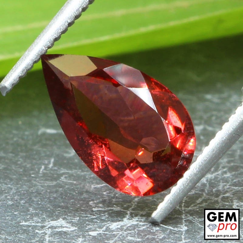 Red Almandine Garnet 2.15 Carat Pear from Madagascar Gemstones