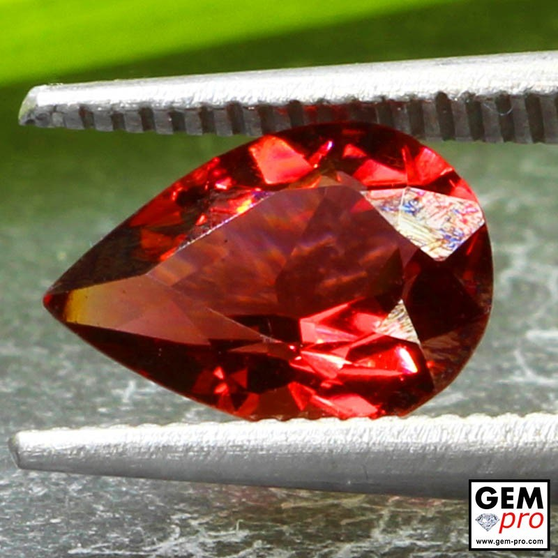Red Almandine Garnet 1.98 Carat Pear from Madagascar Gemstones