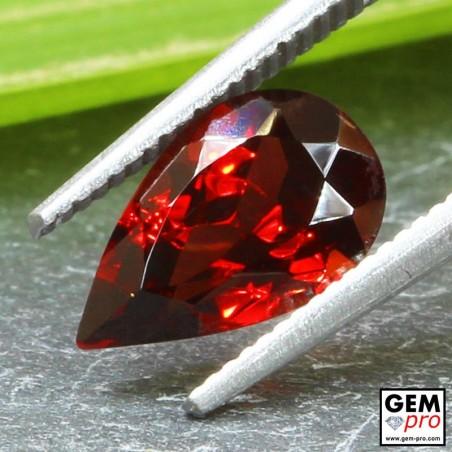 Red Almandine Garnet 2.35 Carat Pear from Madagascar Gemstones