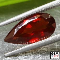 2.89ct Almandine Garnet Pear Cut 13 x 6 mm Natural Gemstone from Madagascar