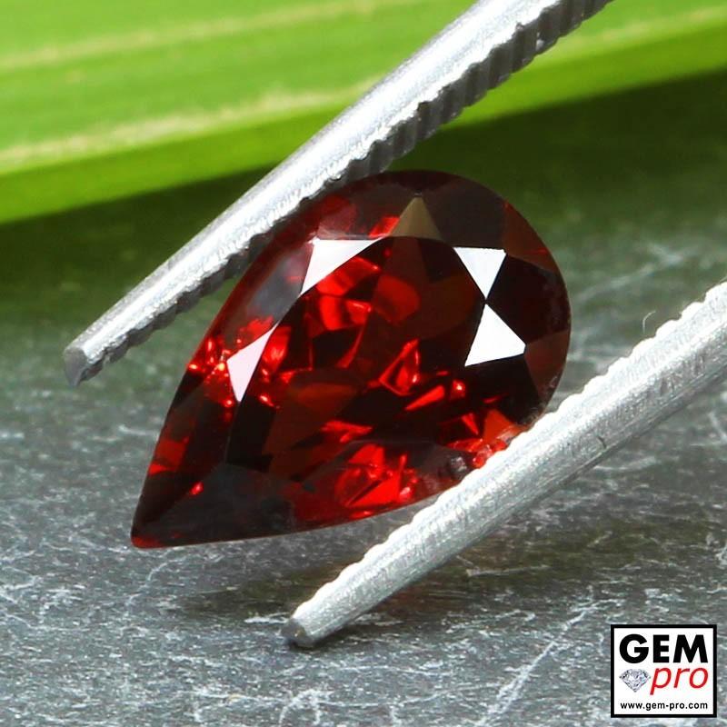Red Almandine Garnet 2.13 Carat Pear from Madagascar Gemstones