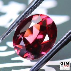 Red Almandine Garnet 1.80 Carat Oval from Madagascar Gemstones