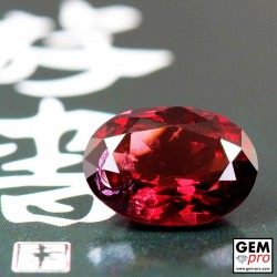 3.27ct Almandine Garnet Oval Cut 10 x 7 mm Natural Gemstone from Madagascar