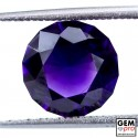 Violet Amethyst 2.9ct Round Facet from Madagascar Natural and Untreated Gemstone