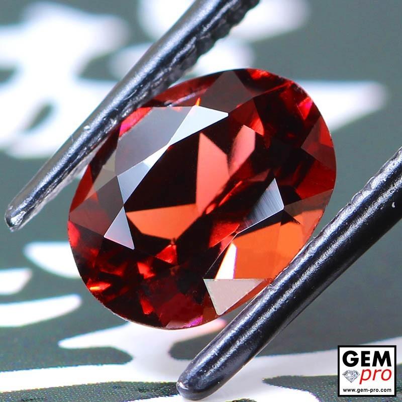 Red Almandine Garnet 1.86 Carat Oval from Madagascar Gemstones