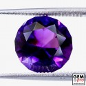 Violet Amethyst 3.4ct Round from Madagascar Natural and Untreated Gemstone