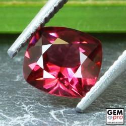 Red Almandine Garnet 1.40 Carat Cushion from Madagascar Gemstones