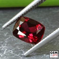Red Almandine Garnet 1.50 Carat Cushion from Madagascar Gemstones