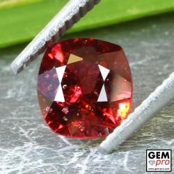 Red Almandine Garnet 1.37 Carat Cushion from Madagascar Gemstones