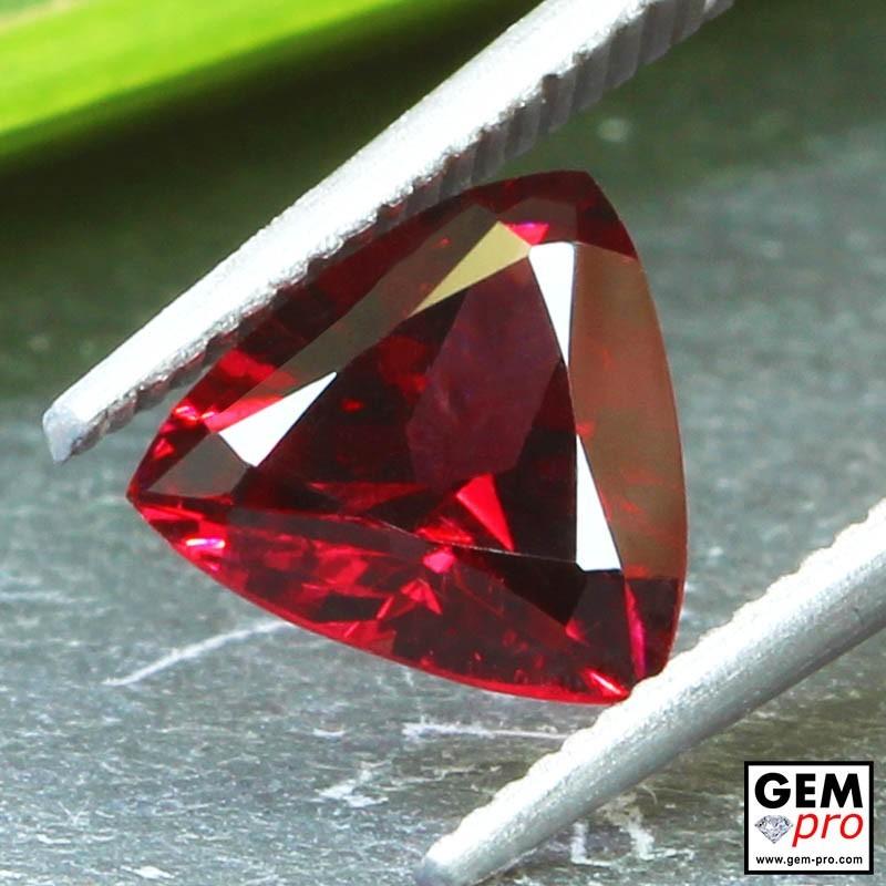 Red Almandine Garnet 1.90 Carat Trillion from Madagascar Gemstones