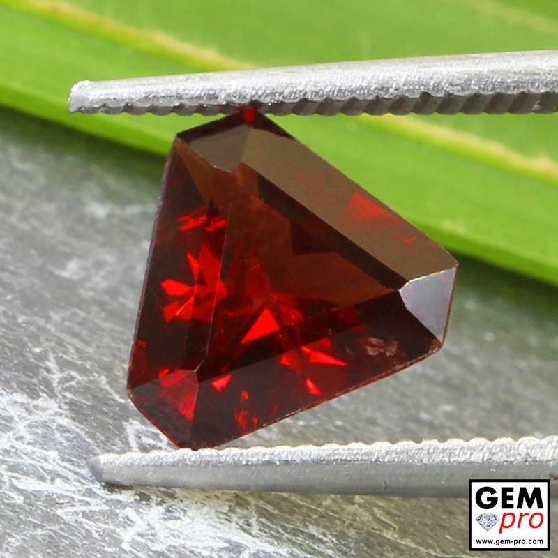 1.76ct Almandine Garnet Fancy Shield Cut 9 x 8 mm Natural Gemstone from Madagascar