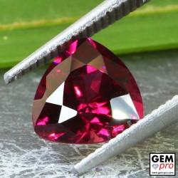 Red Almandine Garnet 2.45 Carat Trillion from Madagascar Gemstones