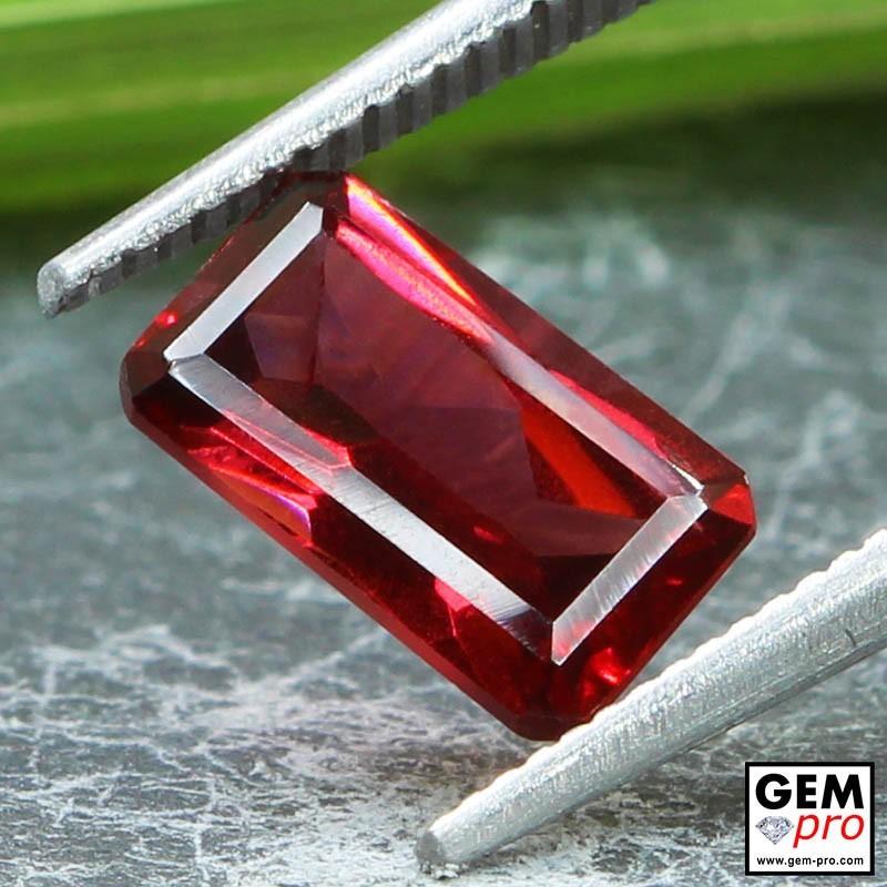 Red Almandine Garnet 2.29 Carat Octagon from Madagascar Gemstones