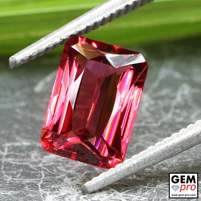 Red Almandine Garnet 2.03 Carat Octagon from Madagascar Gemstones