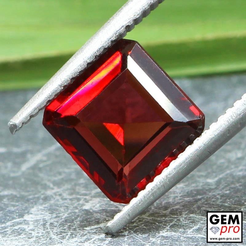 Red Almandine Garnet 2.02 Carat Octagon from Madagascar Gemstones
