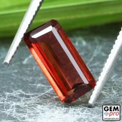 Red Almandine Garnet 1.55 Carat Baguette from Madagascar Gemstones