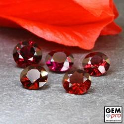 Grenat Almandin 5 p. 7.46 carats Taille Ronde Gemme de Madagascar