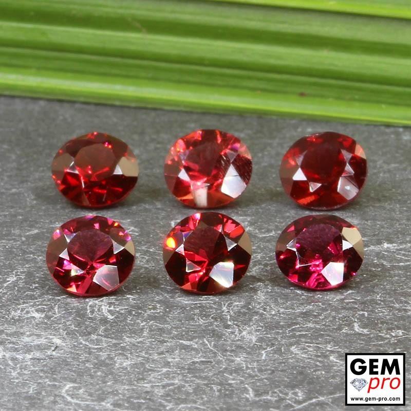 Grenat Almandin 6 p. 5.03 carats Taille Ronde Gemme de Madagascar