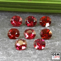 Red Almandine Garnet 4.41 Carat (8 pcs) Round from Madagascar Gemstones
