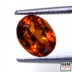 1.70 ct Orange Hessonite Garnet Gem from Madagascar