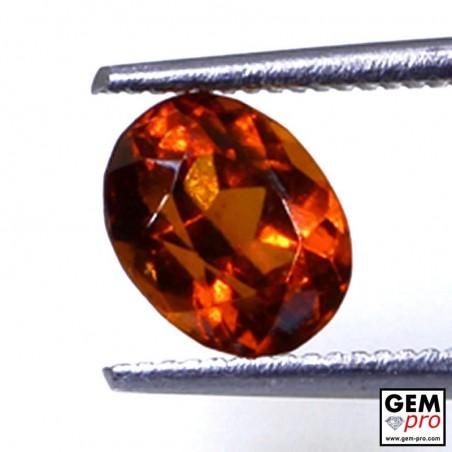 1.70 ct Orange Hessonite Garnet Gem from Madagascar