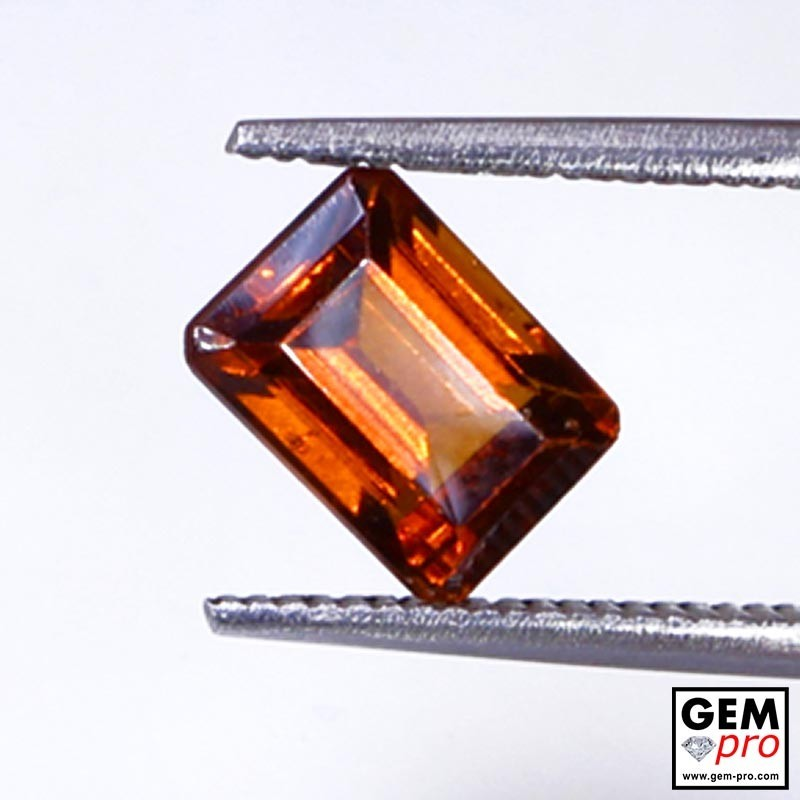 1.85 ct Orange Hessonite Garnet Gem from Madagascar