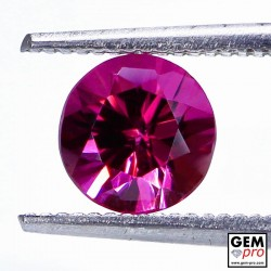 "1.21 carat Round 6.3x6.3 mm Natural and Untreated Pink ""Ampanihy"" Rhodolite Garnet Gemstone"