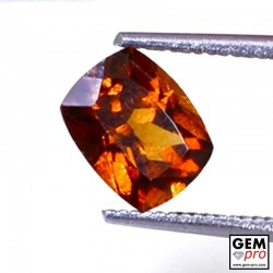 1.57 ct Orange Hessonite Garnet Gem from Madagascar