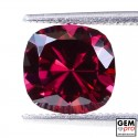 "3.11 carat Cushion 8.7x8.5 mm Natural and Untreated Red ""Ampanihy"" Rhodolite Garnet Gemstone"