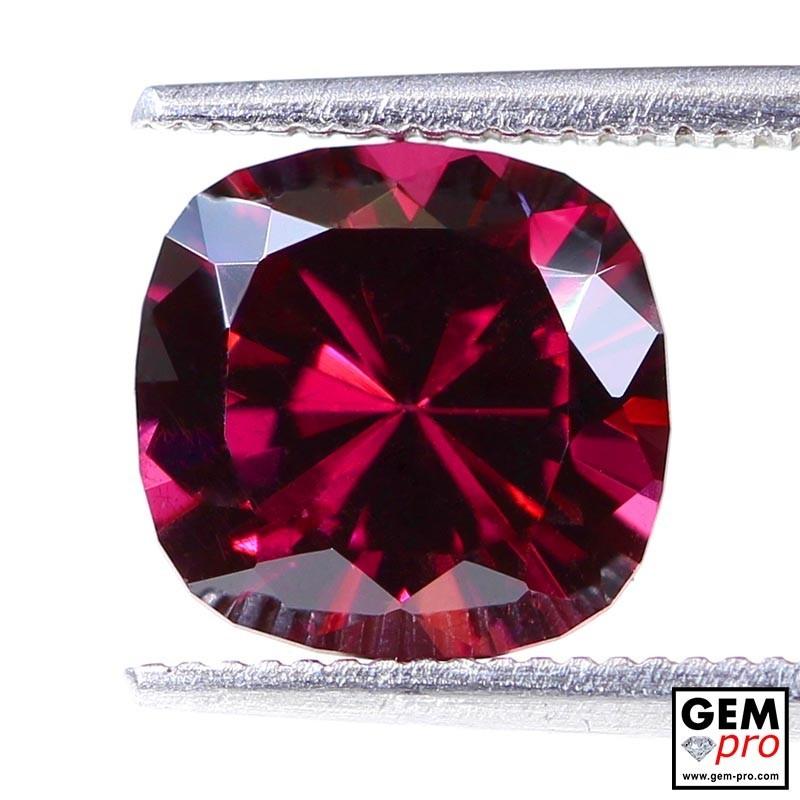 "3.11 carat Cushion 8.7x8.5 mm Natural and Untreated Pink ""Ampanihy"" Rhodolite Garnet Gemstone"