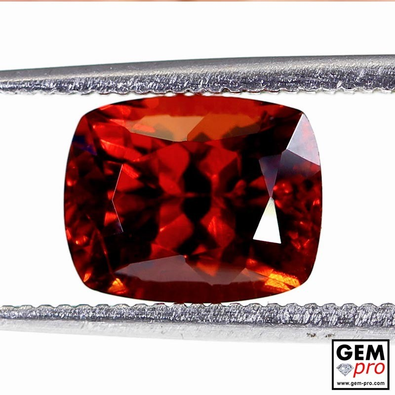 Red Almandine Garnet 3.19 Carats Cushion from Madagascar Gemstones