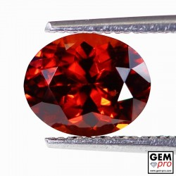 Red Almandine Garnet 2.28 Carat Oval from Madagascar Gemstones