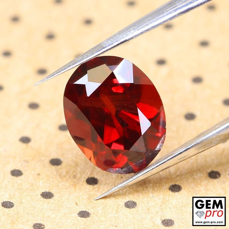 Red Almandine Garnet 2.20 Carat Oval from Madagascar Gemstones