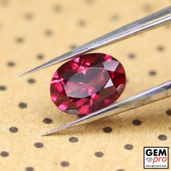 "1.26ct Rhodolite ""Ampanihy"" Garnet Oval Cut 7 x 5 mm Natural Gemstone from Madagascar"