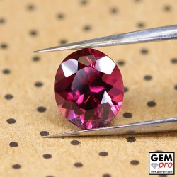 "1.95 carat Oval 7.8x6.8 mm Natural and Untreated Pink ""Ampanihy"" Rhodolite Garnet Gemstone"